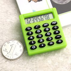 [Visit to Buy] Korea Boutique Stationery Small Square Calculator Personalized Mini Candy Color School & Office Electronics Creative Calculator #Advertisement