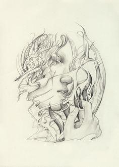 Losing Cure  original pencil artwork  by editevening, $60.00