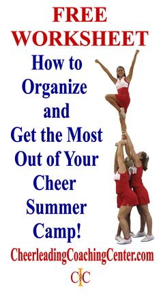 DOWNLOAD your FREE WORKSHEET to help you organize your Cheerleading Summer Camp experience and to help you reach your summer goals. Get it Today at CheerleadingCoachingCenter.com