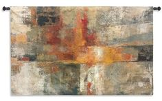 Silver and Amber Crop Wall Tapestry