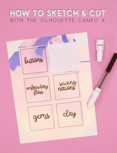 Learn how to create your own custom labels (and much more!) by sketching and cutting with your Silhouette Cameo 4. Silhouette Curio, Silhouette Cameo Projects, Bee Crafts, Vinyl Crafts, Supply Labels, Project Board, Diy Paper, Paper Crafts, Used Vinyl