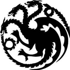NI389 Targaryen logo Game of Thrones House Vinyl Decal Sticker 5.5-Inches | Black