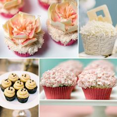 Instead of the traditional wedding cake, we like the idea of having a variety of different flavored cupcakes with lilies on the top in different colors to represent the flavor cupcake. We still want to have the top tier of the wedding cake so we can save it for our 1 year anniversary.