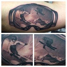 #tattoo #tattoos #ink #imperialbodyart #imperialboise #imperial #imperialtattoo #blackandgrey #ski #skigoggles #goggle #thinksnow #winter #realism #realistic #imperial_body_art #boise #idaho #mountains #snow