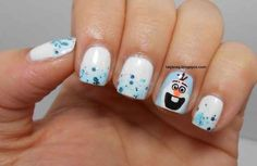 "Olaf Accent Nails | 17 Pieces Of Amazing ""Frozen"" Nail Art"