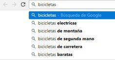 Sugerencias de Google en una búsqueda