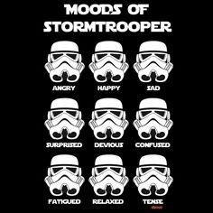 Cool Tee: The Moods Of a Stormtrooper