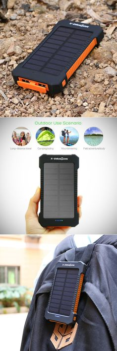 X-DRAGON 10000mAh Solar Power Bank is Perfect for Hikes