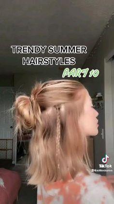 Short Hair Styles Easy, Cute Hairstyles For Short Hair, Curly Hair Styles, School Hairstyles, Hair Tips Video, Hair Videos, Hair Upstyles, Aesthetic Hair, Hair Looks