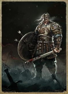"""spassundspiele: """"For Honor Viking Warlord - character concept by Remko Troost """" Viking Character, Character Concept, Character Art, For Honor Characters, Fantasy Characters, Fantasy Armor, Medieval Fantasy, For Honor Viking, Nordic Vikings"""