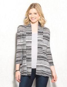 Take on the weekend with comfort and style in this cardigan. Wear with anything from jeans to leggings for a polished look that will have you ready for anything from errand running to couch lounging! Imported.