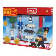 Postman Pat Value Figure Pack  This Postman Pat figure set includes Ben Taylor, SDS Pat, Jess, Ted Glen figures, sheep, trees and postbox accessories. Add these figures to your playsets and continue Post delivery fun. Suitable for ages 3years+.  http://www.comparestoreprices.co.uk/postman-pat/postman-pat-value-figure-pack.asp