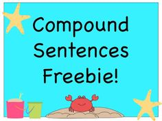 FREEBIE! compound sentences using commas and conjunctions!
