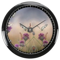 Marbled White Butterflies Flying Over Flowers Aqua Clocks we are given they also recommend where is the best to buyDealsHere a great deal...