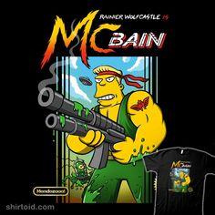 McBain x Contra #contra #gaming #jangosnow #mcbain #nintendo #rainierwolfcastle #thesimpsons #tvshow #videogame