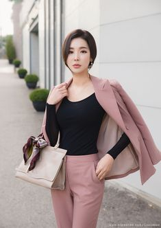 Ulzzang Fashion, Asian Fashion, Work Fashion, Fashion Outfits, Casual Work Outfits, Comfortable Outfits, Cool Outfits, Office Look Women, Mode Pro