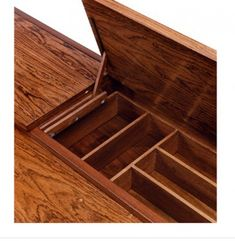 Clever storage under the floorboards.