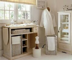 Como hacer un cuarto de costura on pinterest craft rooms for Lavaderos practicos