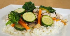 This is a great recipe to have on cauliflower rice. Low-fat and packed with tasty vegetables, you can make this dish a weekly staple!