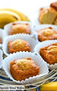 Enjoy these sweet Banana Bread Muffins with a cuppa tea or java any time of day you're in the mood for a sweet homemade treat. Banana Walnut Bread, Homemade Banana Bread, Banana Bread Muffins, Baking Muffins, Banana Nut, Mini Muffins, Banana Recipes, Muffin Recipes, Bread Recipes