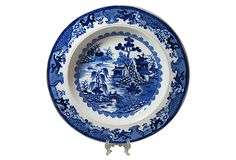 Staffordshire Blue Transfer Soup Plate on OneKingsLane.com