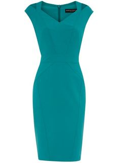 Dorthy Perkins Teal Work Dress.