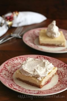 Low Carb Eggnog Cheesecake Bars