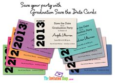 Graduation save the date cards graduation save the date shimmery graduation save the date cards can save your party check them out at theinvitationshop filmwisefo Gallery