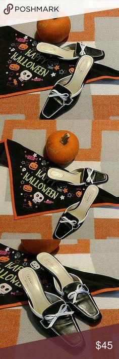 "Coach leather kitten heels Beautiful pair of leather kitten heels by Coach. Very gently used in great condition. 2.5"" heel. For narrow feet, SZ 7B. Coach Shoes Heels"