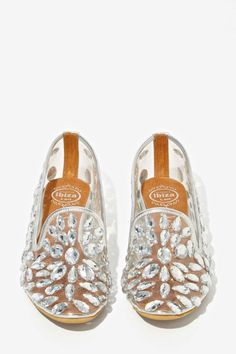 clear jewels shoes