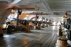 Lord Nelson's flagship HMS Victory, lower deck