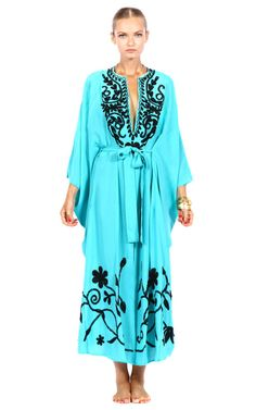 Shop Kava Kaftan by Pas Pour Toi for Preorder on Moda Operandi