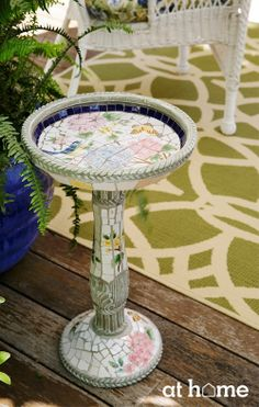 We love this green and white rug as a great way to tie your patio and garden decor together! Outdoor Rugs, Outdoor Living, Outdoor Decor, Porch Decorating, Decorating Your Home, Decorating Ideas, Garden Ridge, Garden Art, Garden Ideas
