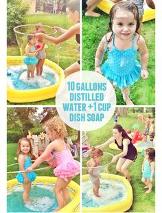 The Busy Budgeting Mama: Giant Bubble Pool! A HIT! -Used at Our Last Hoorah of Summer- A Backyard Beach Play Date!