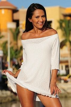 Ujena Swimwear Sheer Mexican Riviera Bikini Cover Up Lingerie Dress