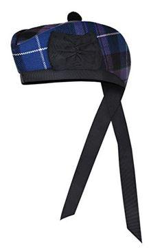 New Scottish Black Wool Blended Glengarry Hat with Red Pompom 6 Designs Scottish Clothing, Scottish Kilts, Kilt Jackets, Kilt Accessories, Tam O' Shanter, Tartan Kilt, Men In Kilts, Cool Hats, Black Wool