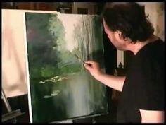 Artista ruso Igor Sajarov Bob Ross. enseña a escribir estanques - YouTube