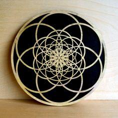 Fibonacci Seed of Life Wall Art - Sacred Geometry Laser Cut Art - LaserTrees Item Number LT40029