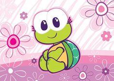 Cute Drawlings, Cute Art, Cartoon Images, Cute Cartoon, Turtle Love, Notebook Covers, Rock Crafts, Cute Disney, Fabric Painting