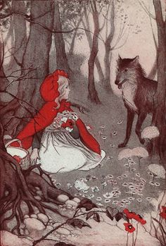 Vintage 1930s Little Red Riding Hood Illustration - Timeless Childrens Story. $7.00, via Etsy.