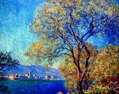 Antibes Seen From La Salis, 1888, Claude Monet. ...  I love the strong colors he used here. . . .