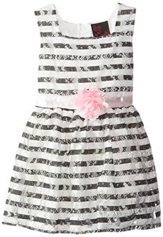 0e6166f2eed Rare Editions Little Girls Navy Chevron Lace Trim Dress 6x   Continue to  the product at the image link.
