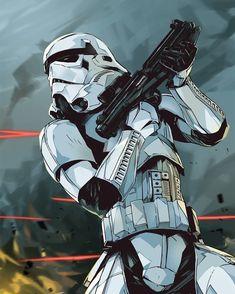 Stormtrooper in battle
