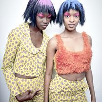Fun and funky for Jeremy Scott, hair by Eugene Souleiman #SpeakEIMI #AW15