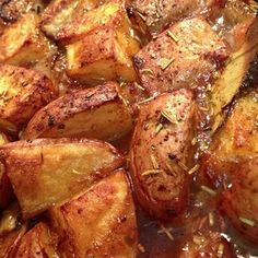 Roasted Potatoes After Actifry 40 minutes. Gourmet Recipes, Cooking Recipes, Healthy Recipes, Seasoned Roasted Potatoes, Tao, Tefal Actifry, Actifry Recipes, Air Fried Food, Air Fryer Recipes