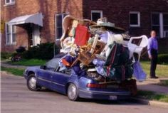 Pictures Of Madly Overloaded Vehicles, lol ove the look on the guys face..yea we can get the couch on too bring it out