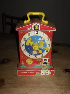 Vintage 1960s Fisher Price Learn to Tell Time Clock - TheresaMarieRose @ Etsy.com