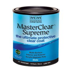 MasterClear Supreme Matte 32oz  - great for top of wood pieces after using chalk paint.