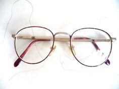 5f0145e3e4e 60s Lennon Round Eyeglasses Faux Tortoise Gold 48-18 Funky Prof Prep Retro  Mod Full Rim Unisex Boho Oxford Wire Vintage Sunglasses Frames