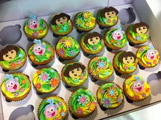 Dora The Explorer Cupcake Toppers Cupcake Toppers Pinterest - Dora birthday cake toppers